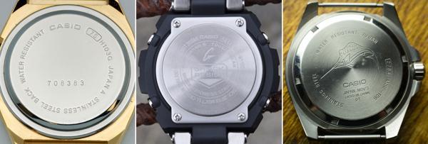 3 loại nắp đồng hồ casio