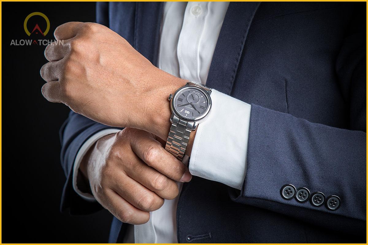 đồng hồ aerowatch dây kim loại