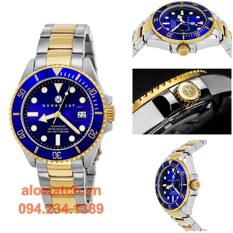 Mạ vàng đồng hồ Henry Jay Mens