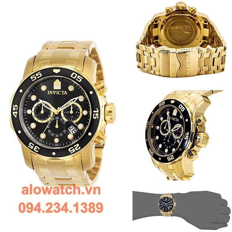 Mạ vàng đồng hồ Invicta Men 0072