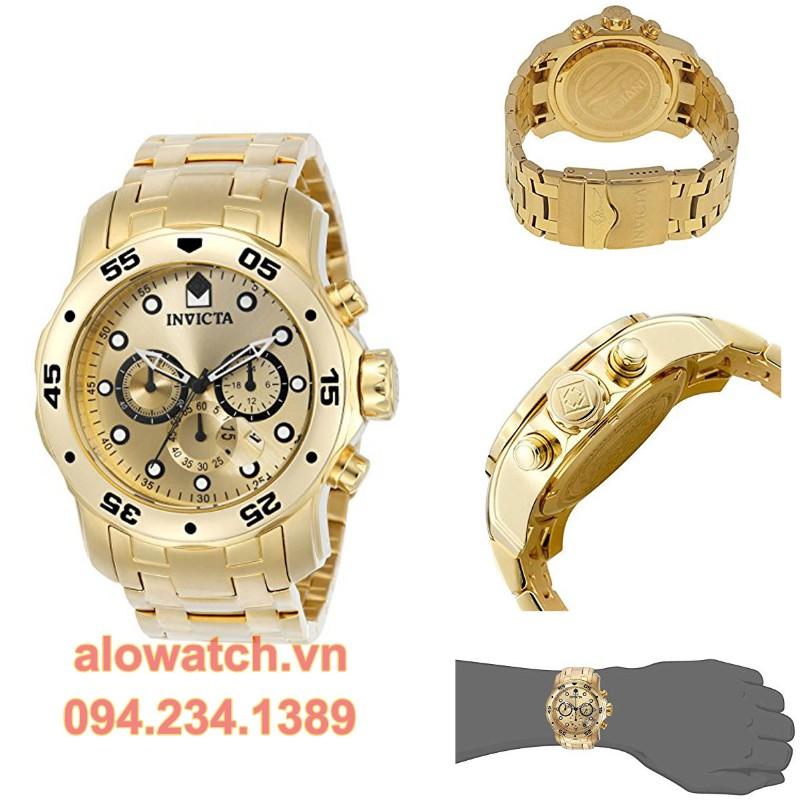 Mạ vàng đồng hồ Invicta men 0074