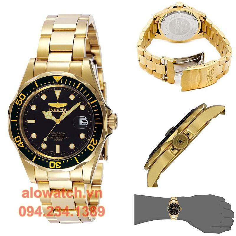 Mạ vàng đồng hồ Invicta men 8936